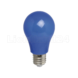 E27 - farbige Event LED Lampe 3W (A60) IP54 - BLAU