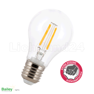 E27 - klare - LED Filament Birne (A60) 4W - warmweiß - PC...
