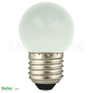 E27 - LED Tropfen Lampe (G45) 1W WARMWEISS 2800K