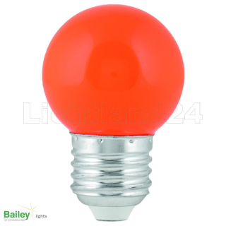 E27 - LED Tropfen Lampe (G45) 1W ORANGE