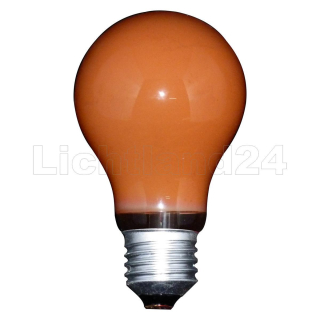 E27 - bunte Illu Glühbirne A60 - 15 Watt orange